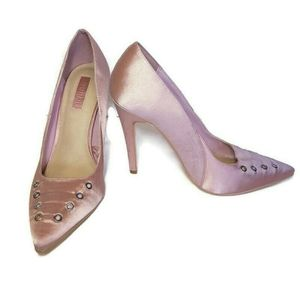 🍁 FOREVER 21 Pink Satin Pumps Pointed Toe Heels